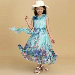 Online Shop Vestido de verão 2014 5-15 idade crianças adolescente da menina Chiffon mangas praia Bohimian Maxi longo princesa vestidos do bebê meninas vestido|Aliexpress Mobile
