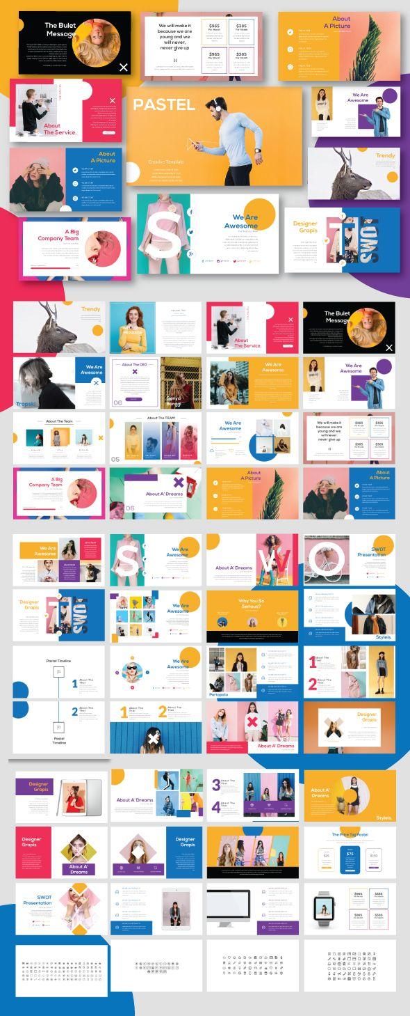 pastel modern minimal powerpoint creative powerpoint templates