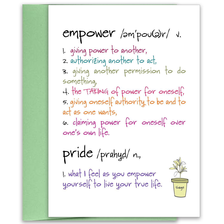 empower encouragement card manifest encouragement card
