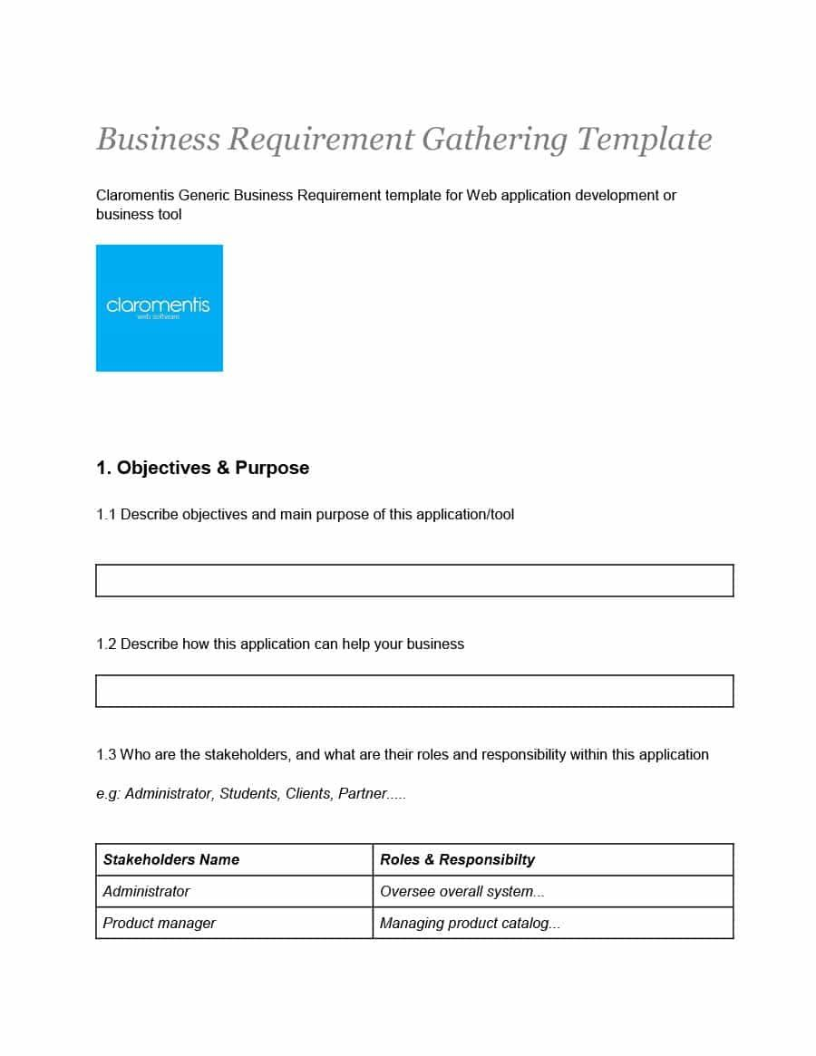 40 Simple Business Requirements Document Templates ᐅ For Product