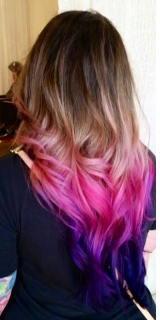 Pravana Vivids Ombre Ombre Hair Pink Hair Purple Hair Dark Brown Pink And Violet Ombre No Hair Extensions Pink Ombre Hair Blue Ombre Hair Short Purple Hair