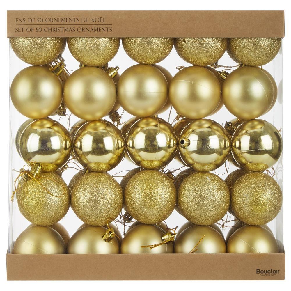 Ensemble de 50 ornements dorés