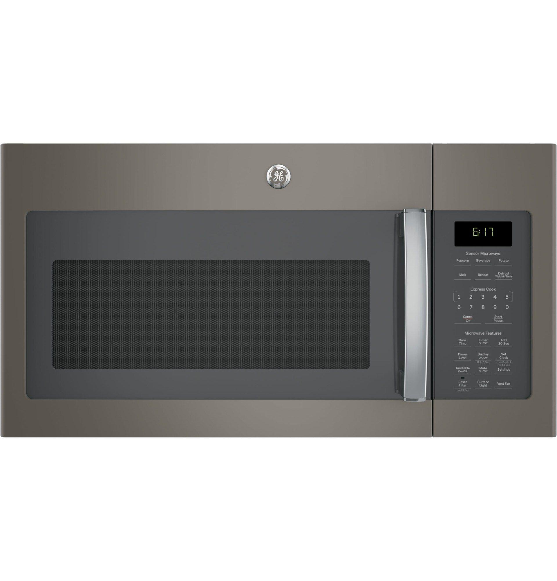 Ge Jvm6175ekes 1 7 Cu Ft Over The Range Sensor Microwave Oven Slate Slate Over The Range Microwaves Range Microwave Ge Appliances