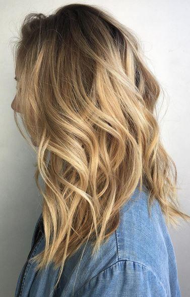 dark and rooty honey blonde hair color