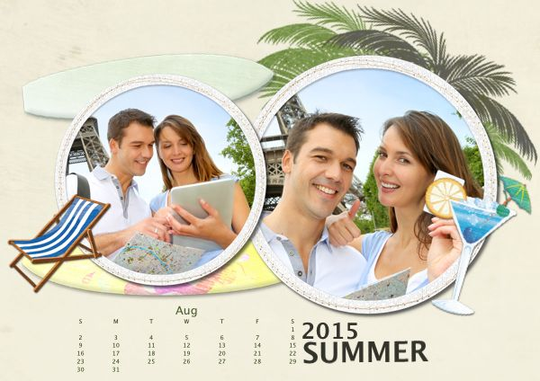 Memorable summer #calendar for you Do it now and send the