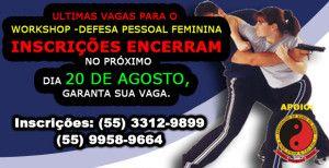 Ultimas Vagas para o Workshop – Defesa pessoal para mulheres em Santo Ângelo