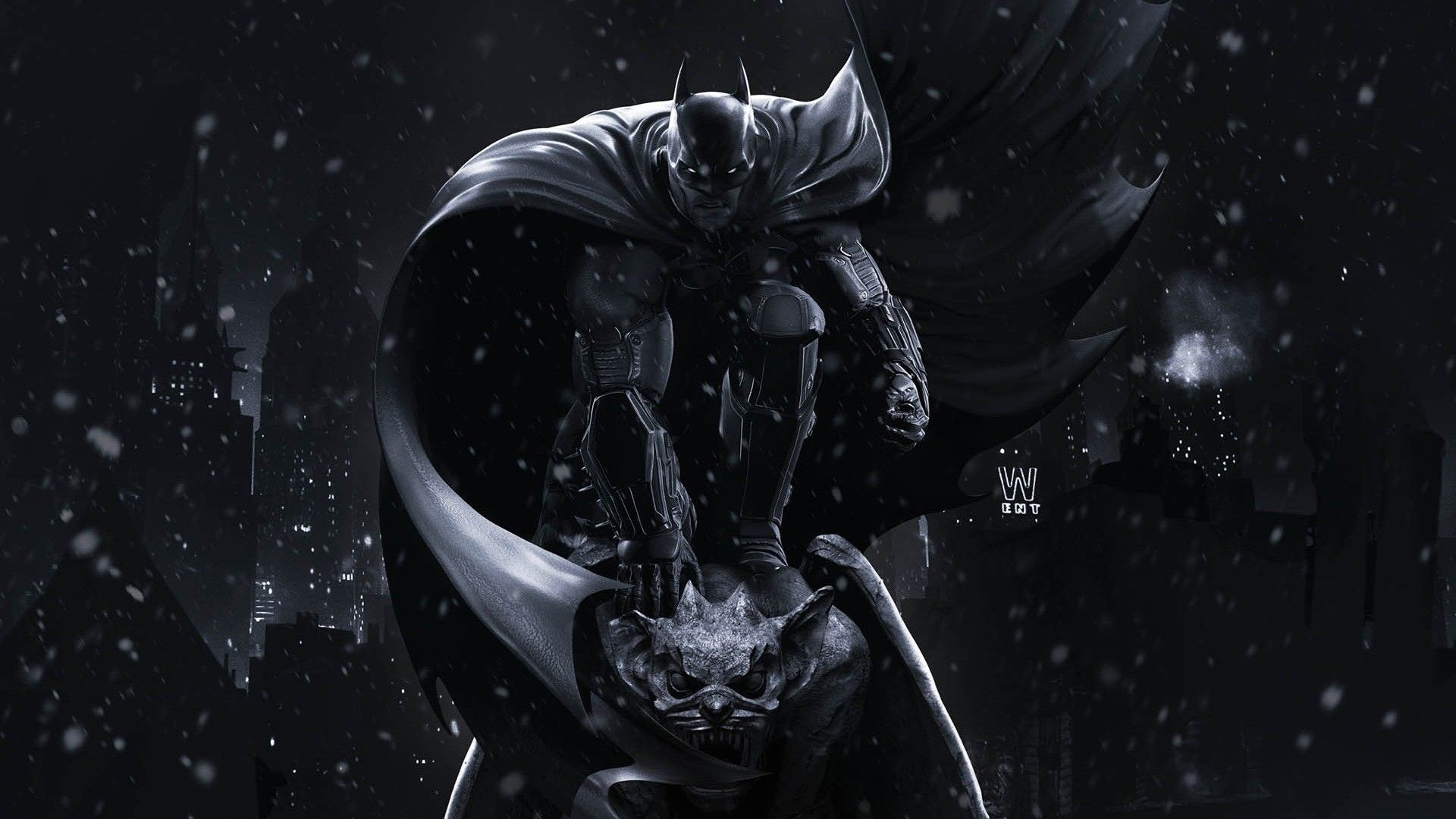 Batman The Dark Knight Artwork Gotham City Wallpaper 5648