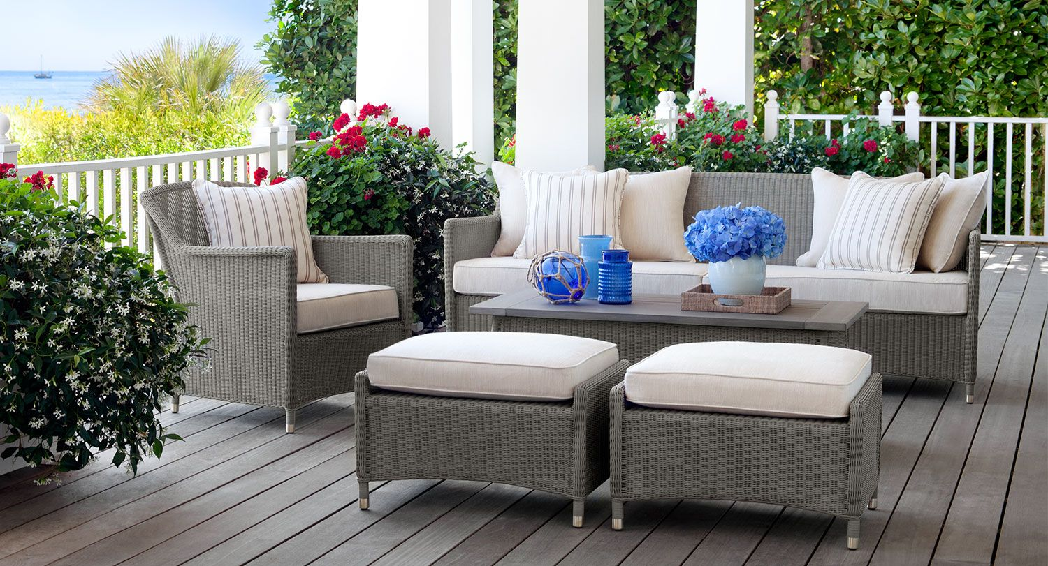 Full Outdoor Furniture Set Featuring The Southampton Collection By Brown  Jordan