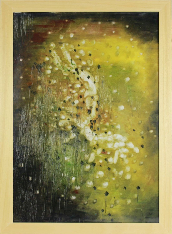 005 EHMAC handmade wall paintings on porcelain abstract rainy ...