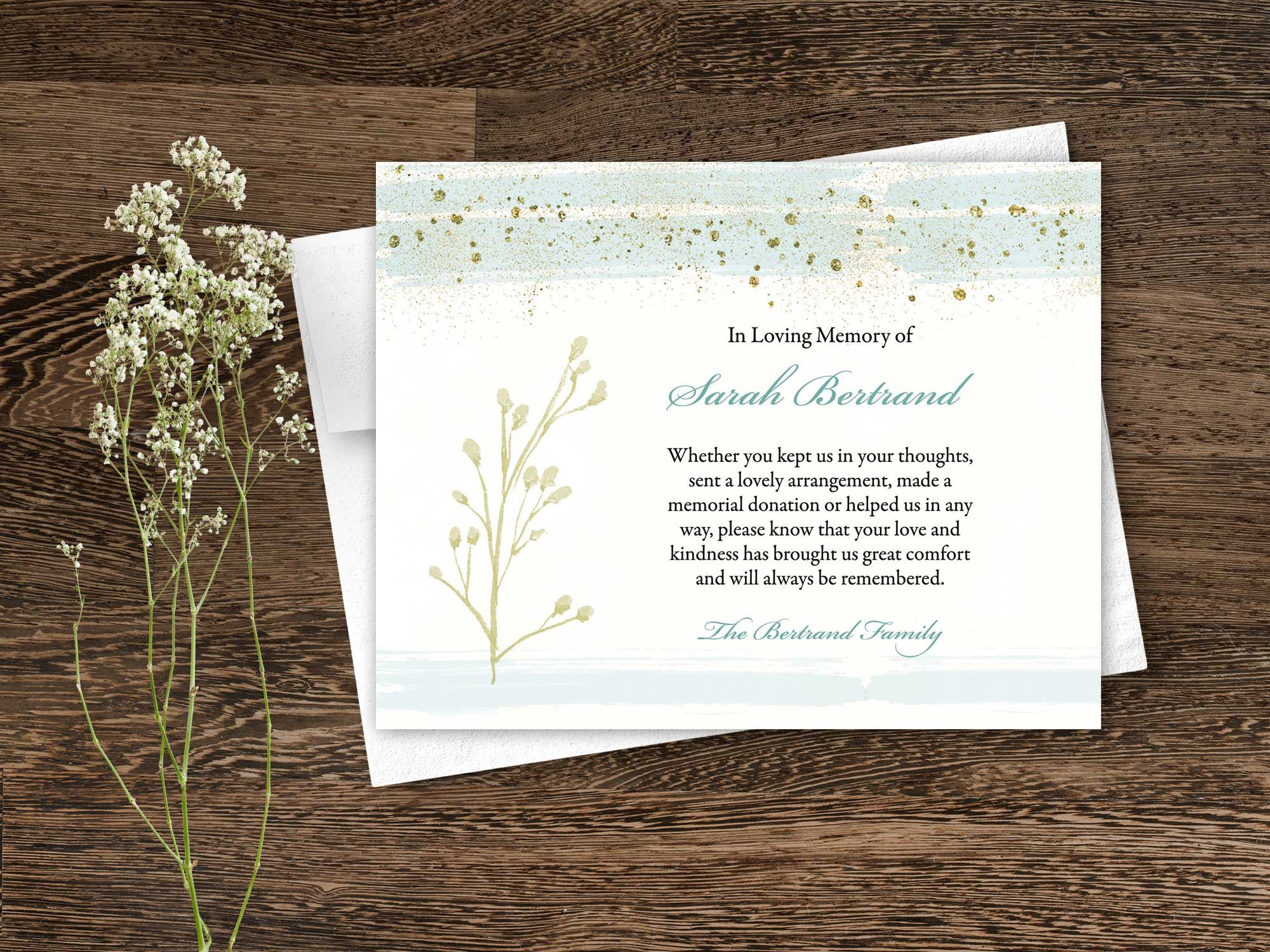 Funeral Thank You Cards Sympathy Bereavement Thank You Cards Memorial Thank You Cards Sympathy Ack Funeral Thank You Cards Funeral Thank You Thank You Cards