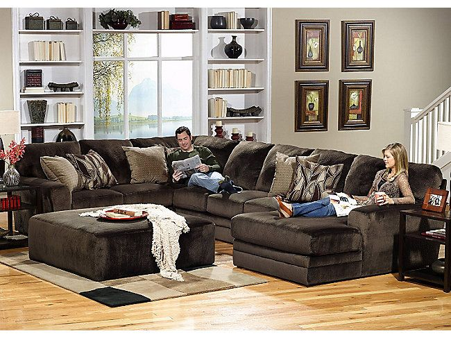 Rainier 3 Piece Sectional Hom Furniture Warm Living Room