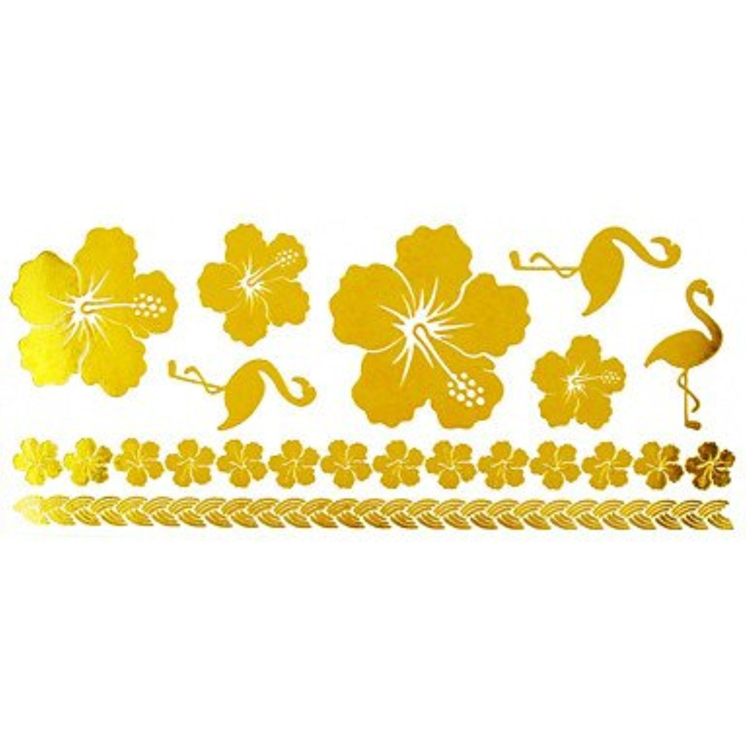 Pc gold long bracelet tattoo sticker xcm check out the image