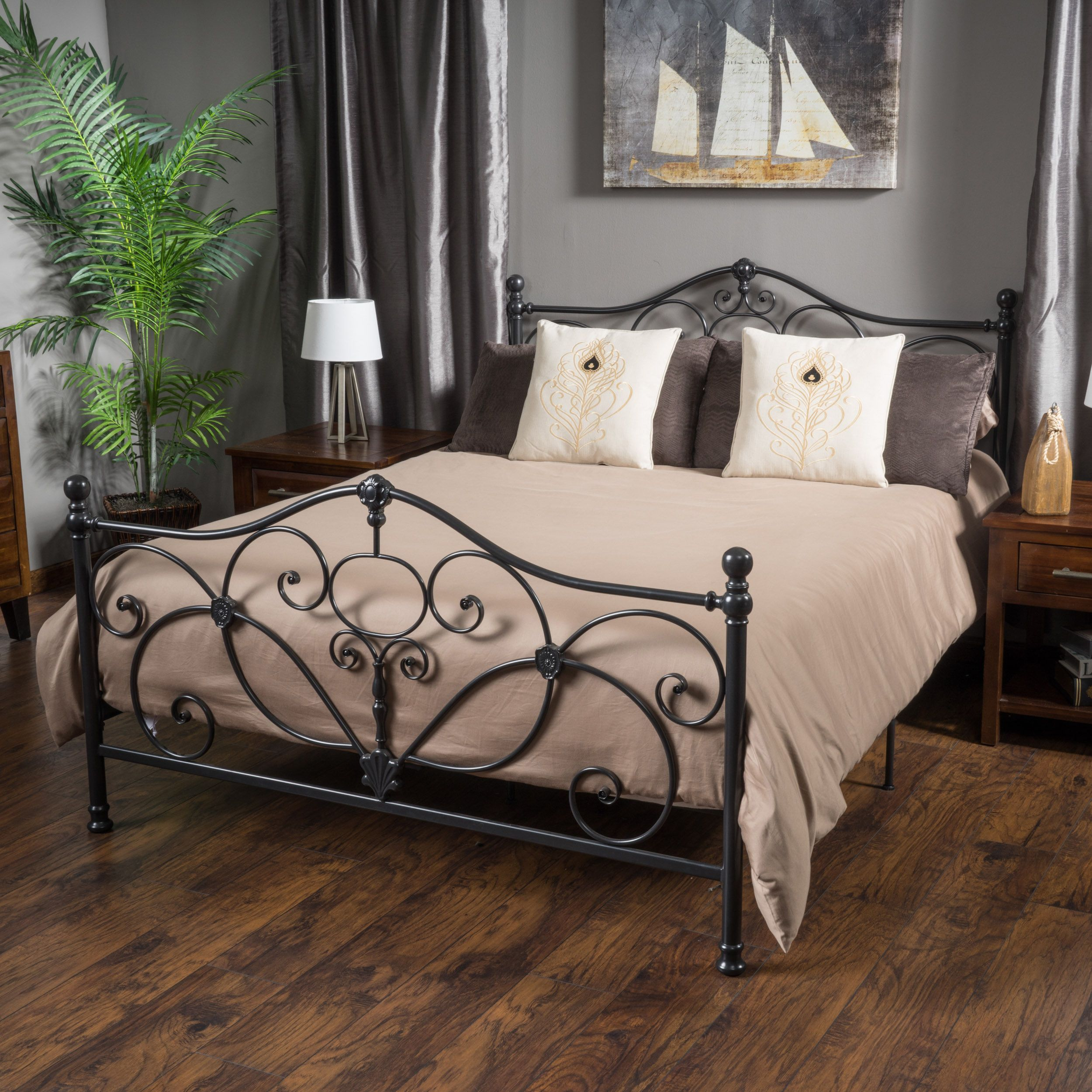 Marcus King Size Metal Bed Frame By Christopher Knight Home