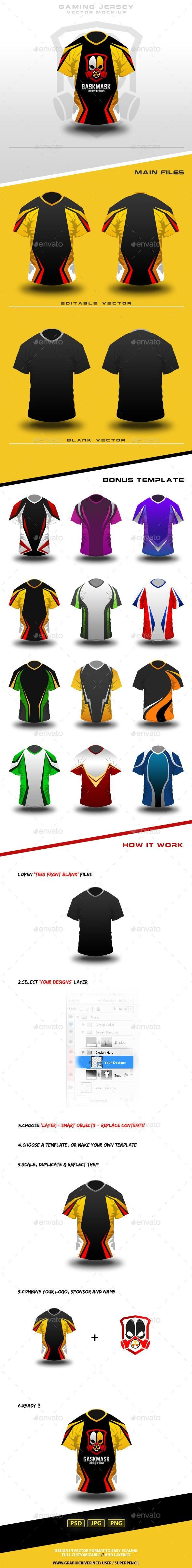 Download Gaming Jersey Mock-Up - Envato #mockup #psd #template # ...