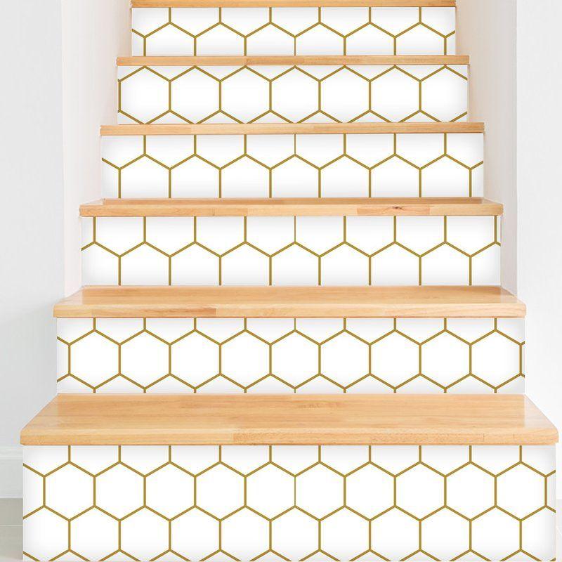 """F. Scott Fitzgerald Removable 8' x 20"""" Geometric Wallpaper"""
