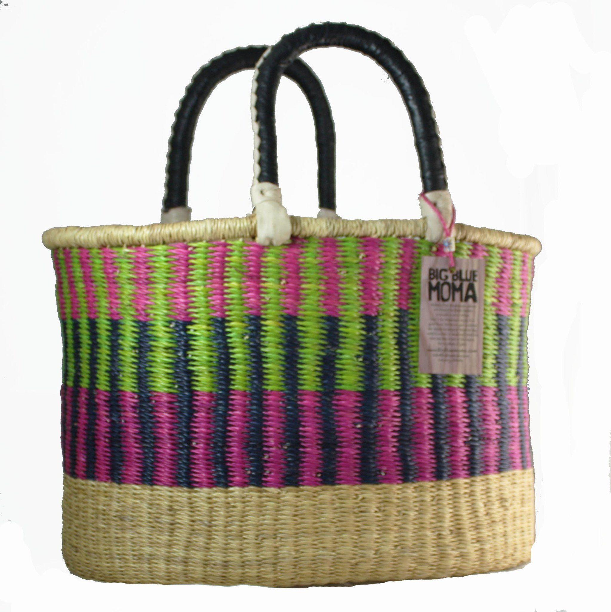 Basket Weaving Ghana : Market baskets ghana bolga handmade weaving