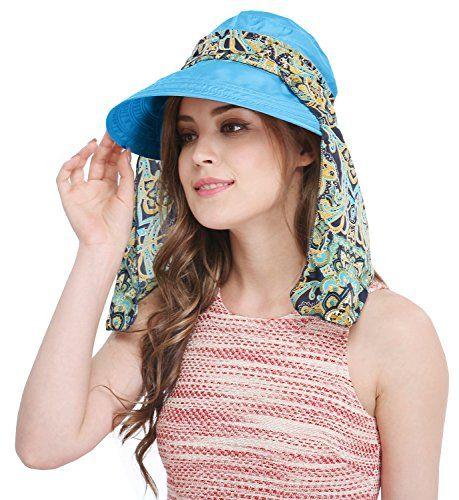 Bellady Big Brim Foldable Hat Summer Beach Cotton Sun Hat Floppy Sunblock  Hats Visor 89c572cce13
