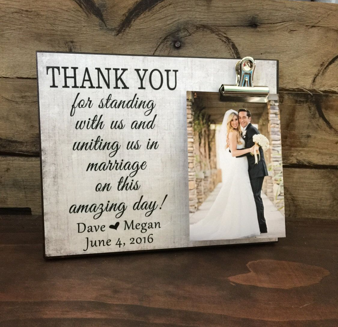Wedding Gift, Thank You For Standing With Us and Uniting