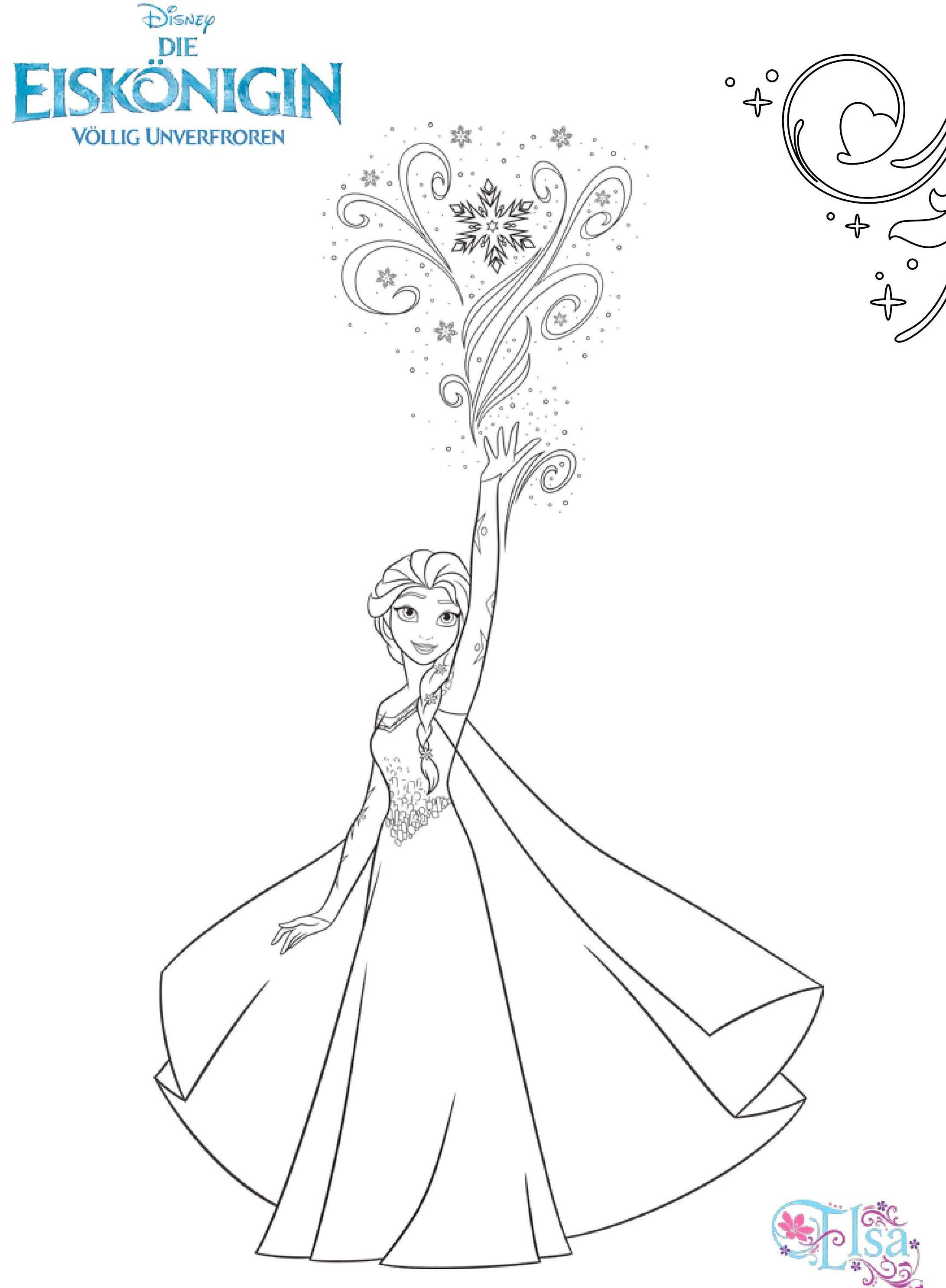 Ausmalbilder Elsas magische Fähigkeiten e7