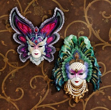 Maidens of Mardi Gras Wall Mask Sculptures: Butterfly Maiden ...