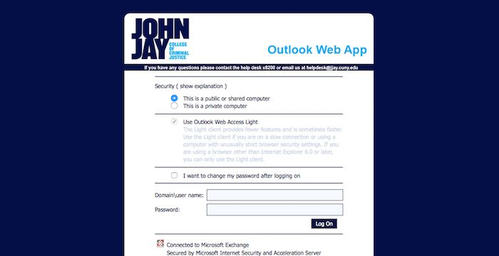 John Jay Email Login Page Url With Images John Jay Email