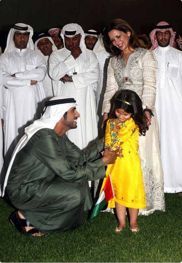 Sheikh hamdan almaktoum with his step-sis sheikha aljalilah and his