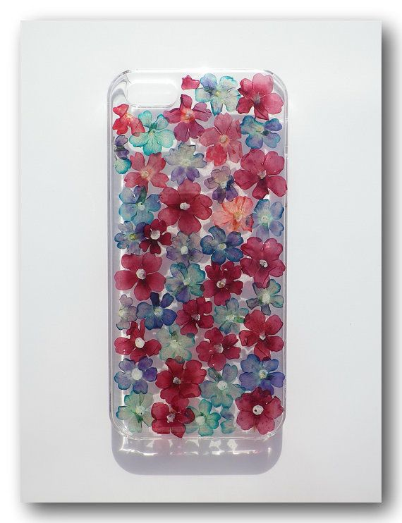 Materials : 1. Clear case  2. Real Flowers (verbena hybrida voss)  3. Resin