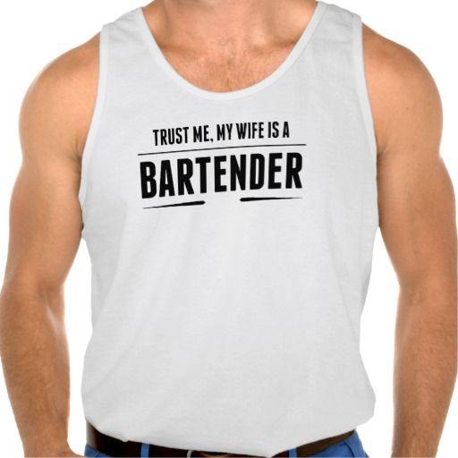 My Wife Is A Bartender Tank Tank Tops
