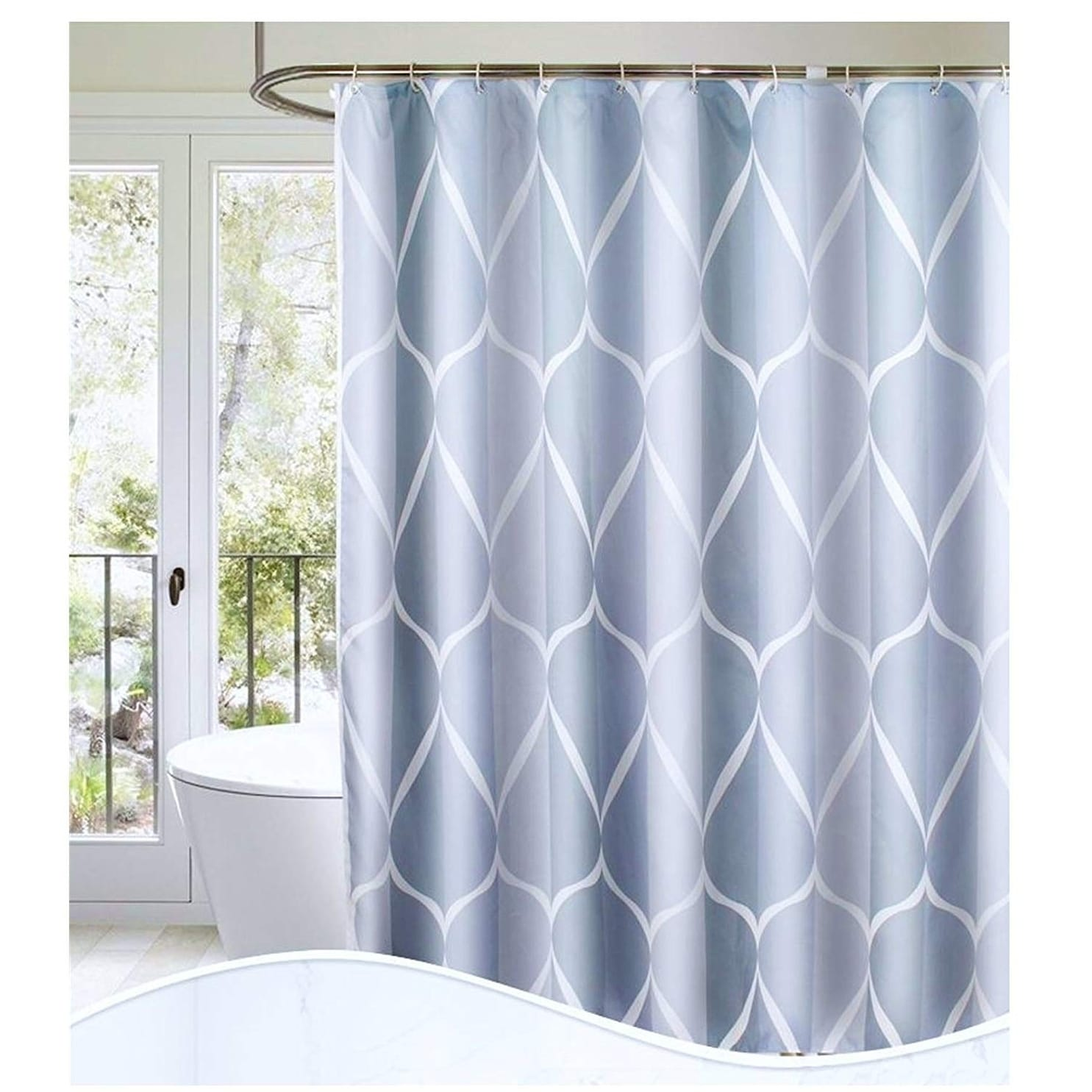 Pin By Meredith Hanley On Patterned Shower Curtain In 2020 Luxury Shower Luxury Shower Curtain Gray Shower Curtains