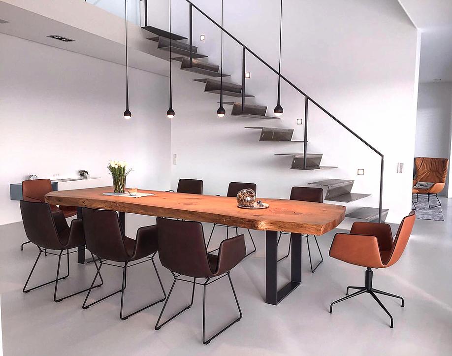 Esstisch massivholztisch baumtisch aus zedernholz - Baumtisch esszimmer ...
