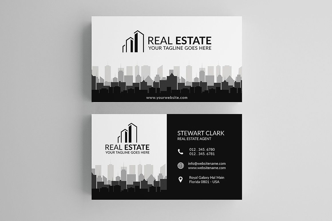 Real Estate Business Card Template Real Estate Agent Business Cards Real Estate Business Cards Free Business Card Templates