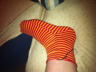 Socken Schnittmuster, free sock pattern, fleece sock pattern free sewing