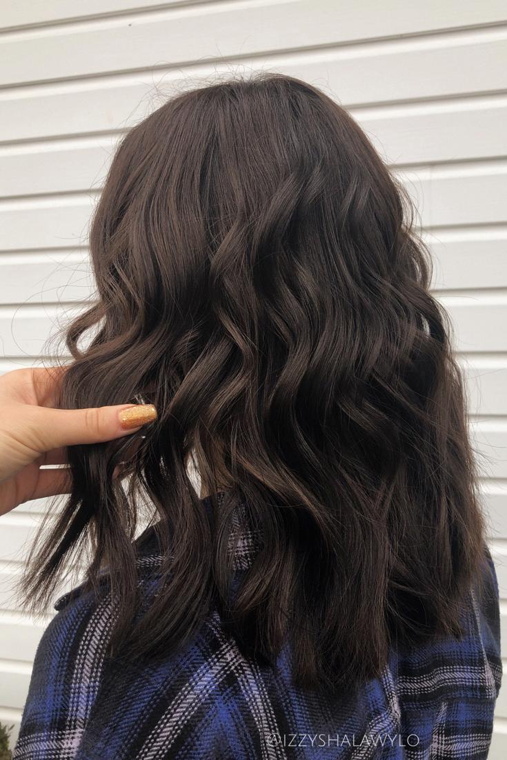 Dark Brown Hair In 2020 Brown Hair Shades Dark Chocolate Brown Hair Medium Length Hair Styles