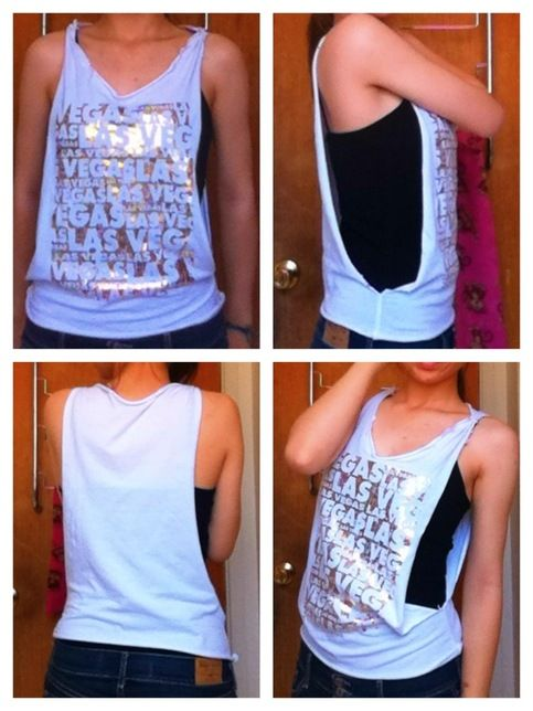 74bbd857bf81e3 Size  extra small small - Originally a t-shirt cut into a tank top ...