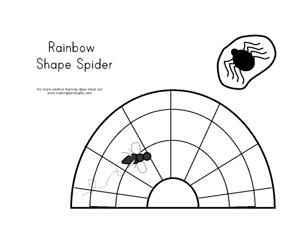Rainbow shaped spider craft from Making Learning Fun