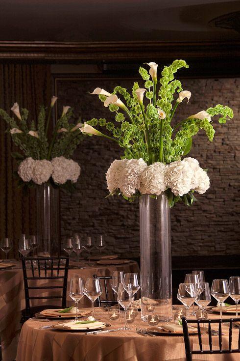 Wedding ideas for stunning tall centerpieces calla