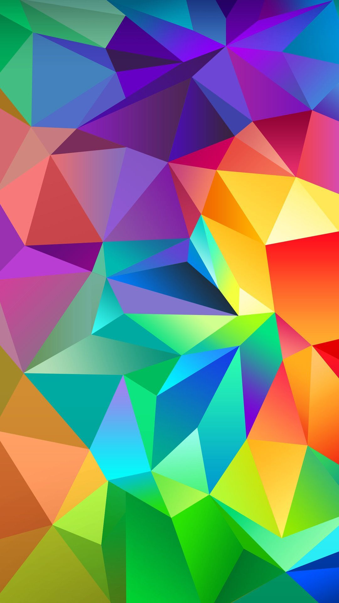Awesome Colorful Triangles Wallpapers - WallpaperAccess