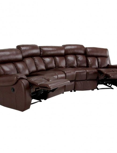 Brown Leather Sectional Sofa With Recliner Decor Pinterest