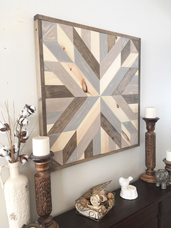 Wooden Star Wall Decor reclaimed wood wall art, rustic wall decor, rustic barn star