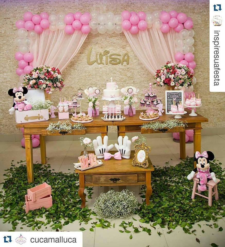 Fiesta de minnie mouse rosa 4 pinterest minnie mouse - Decoracion fiesta rosa ...