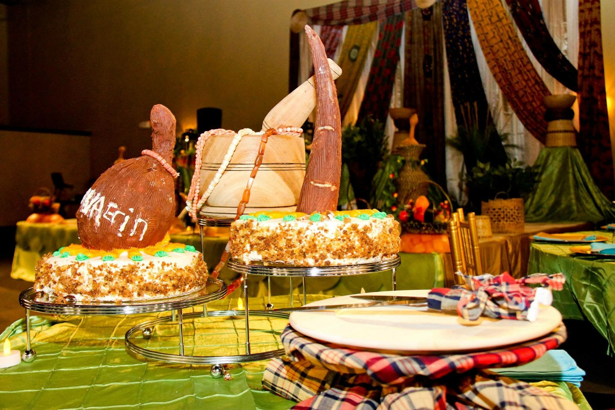 Wedding decorations nigeria  Beautiful colors and decor are perfect for this traditional Nigerian