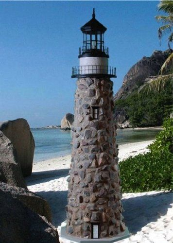 Amazon Com 5 Foot Stone Lighthouse Wall Sculptures Garden