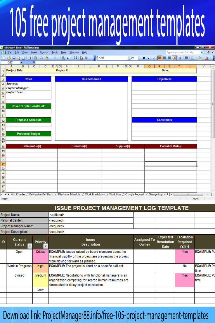 Project Management Templates Download Free  Project Management