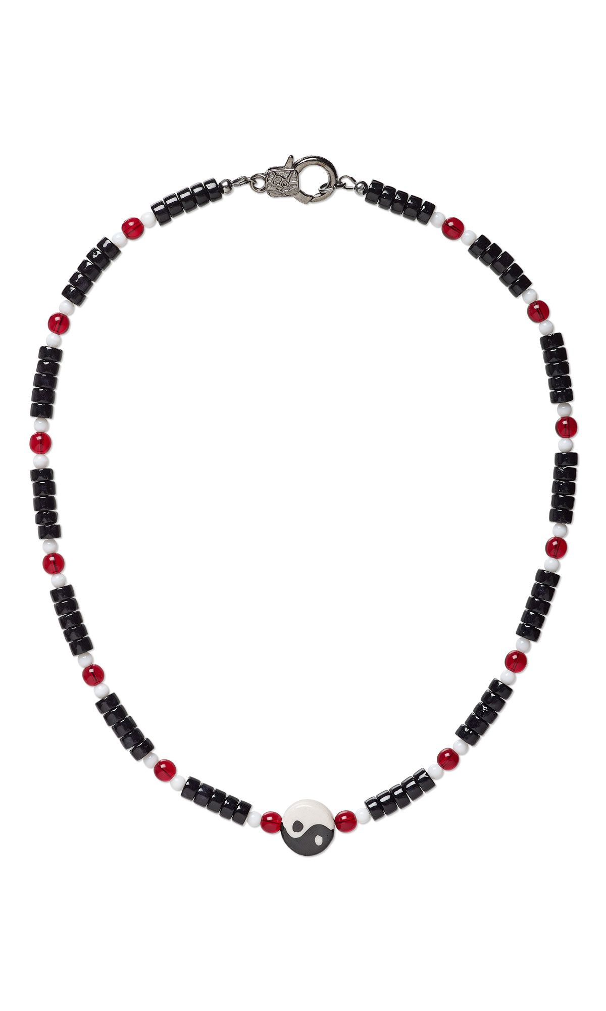 jewelry design single strand necklace with porcelain bead