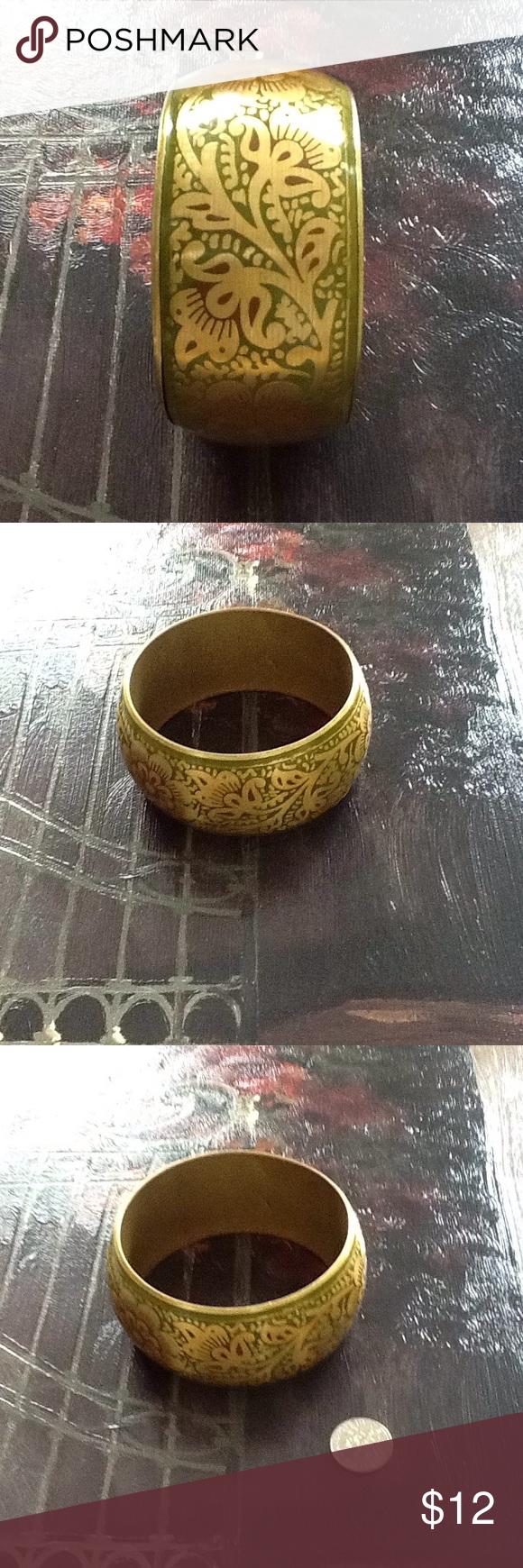 for vintage floral wide gold bracelet vintage floral