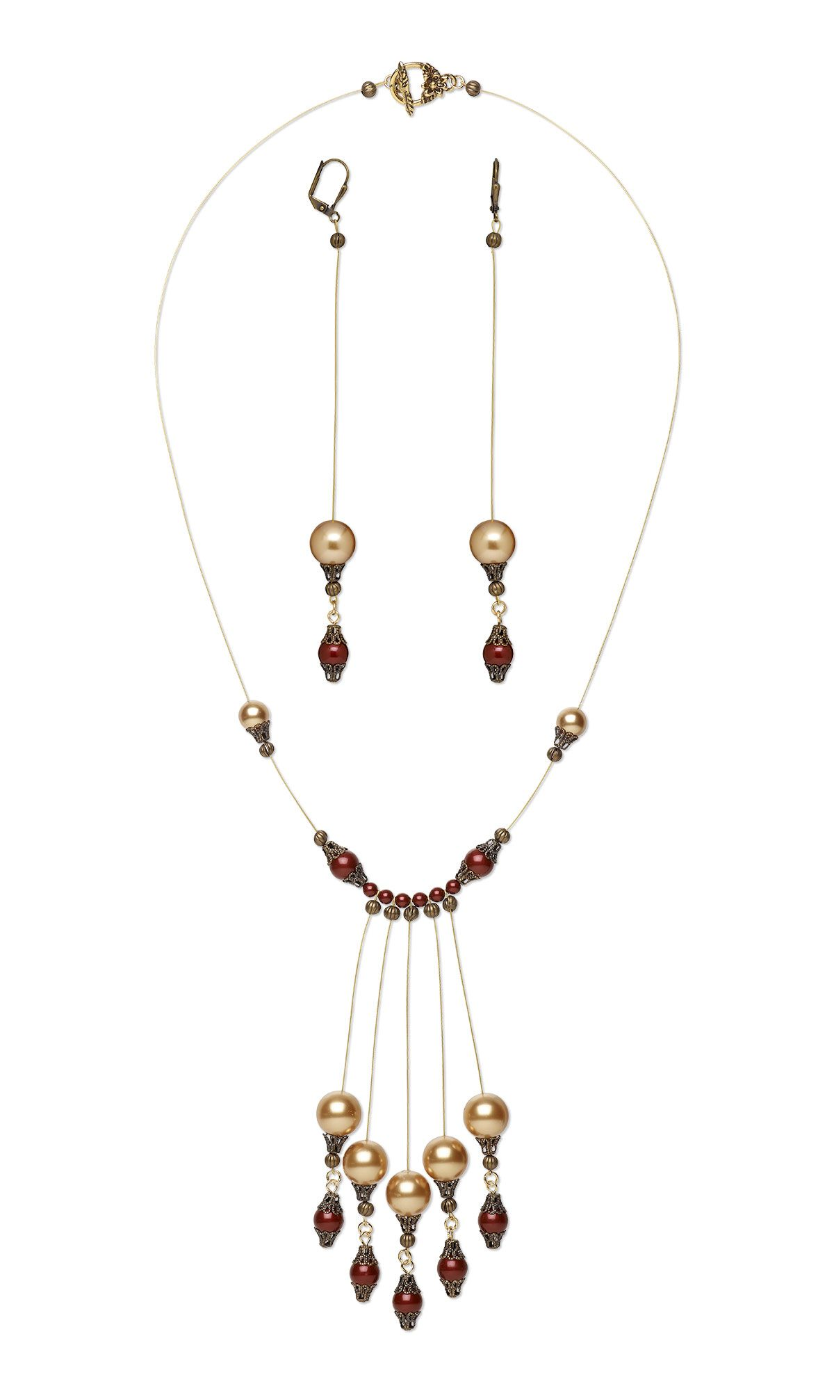 Jewelry Design - Single-Strand Necklace and Earring Set with ...