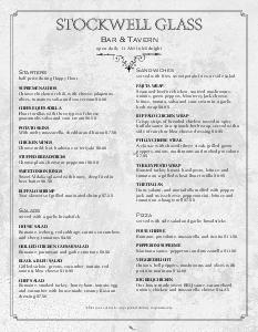 Whiskey Bar Menu www.musthavemenus.com Restaurant Menu
