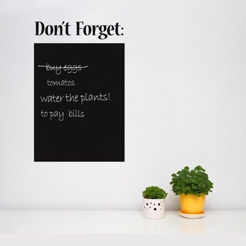 Use This Chalkboard Special Wall Sticker To Write And Wipe Thought - Wall decals you can write on