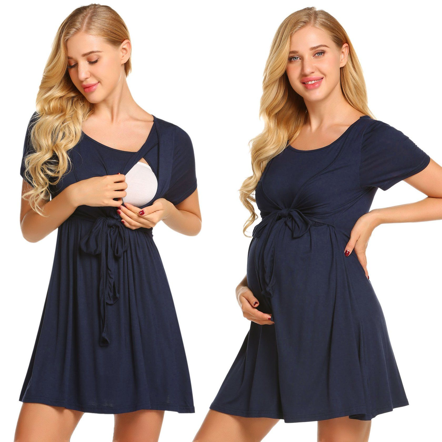 df4a729c8a71 Maternity Fashion - pehie Nursing Nightgown Womens Short Sleeve Maternity  Dress for Breastfeeding SXXL     Be sure to check out this outstanding  product.