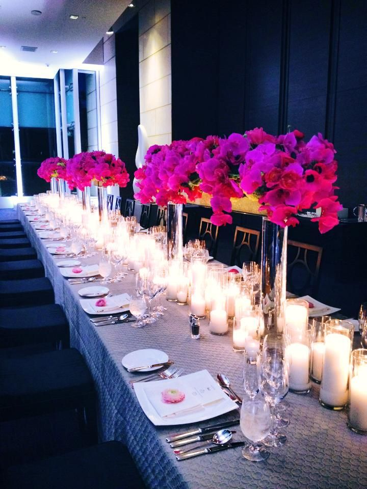 Paul Robertson Floral Design A Sea Of Candles On King Tables And